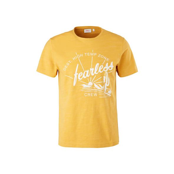 Meliertes T-Shirt mit Print - T-Shirt