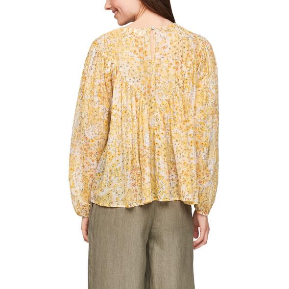 Bedruckte Bluse mit Glitzergarn - Bluse