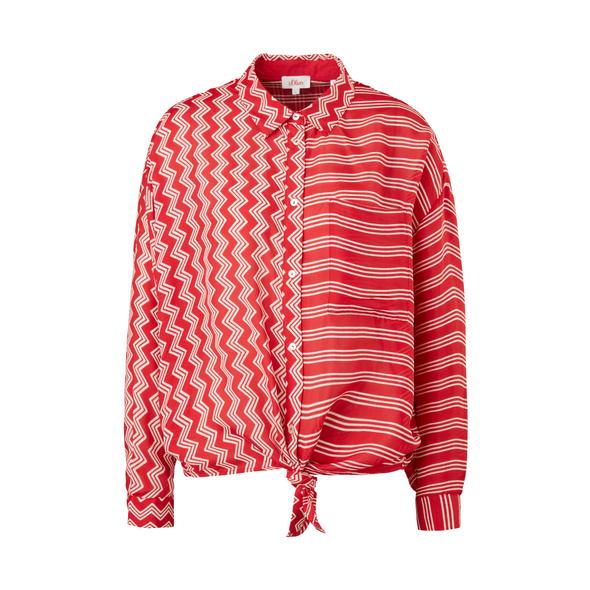 Seidenmix-Bluse mit Knotendetail - Seidenmix-Bluse