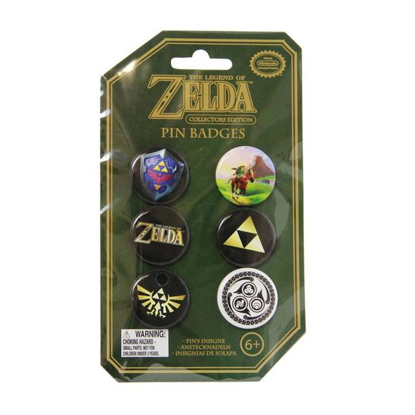 The Legend of Zelda - Anstecker 6er-Pack