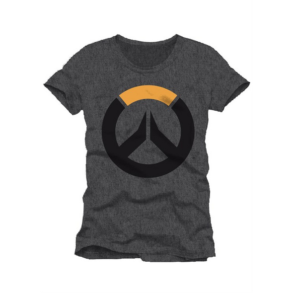 Overwatch - T-Shirt Logo grau (Größe L)