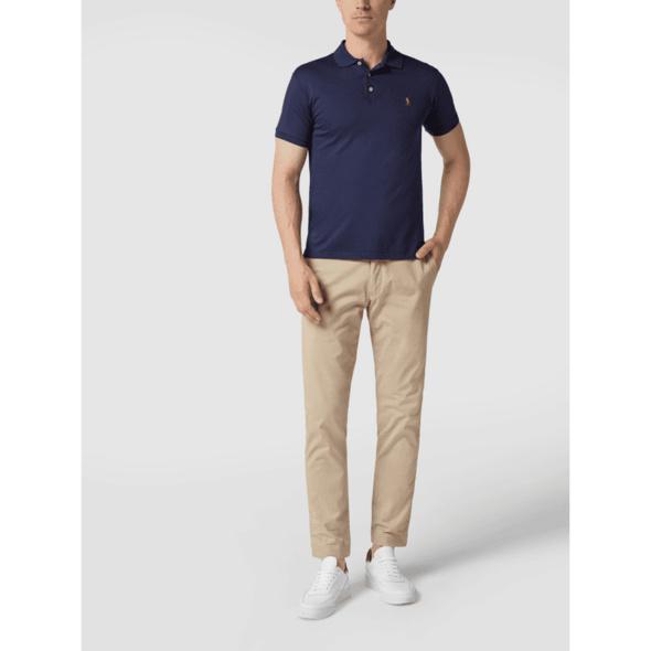 Slim Fit Poloshirt aus Jersey