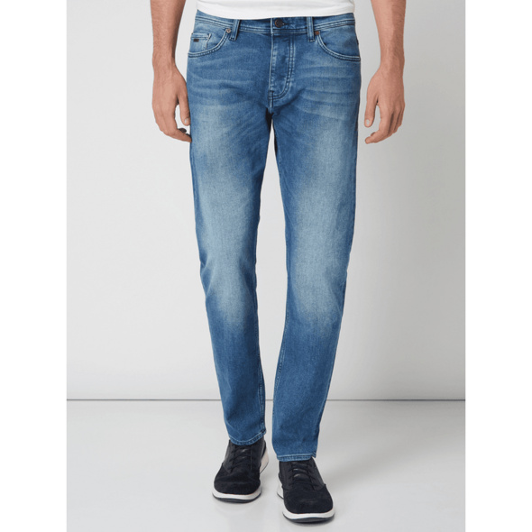 Stone Washed Tapered Fit Jeans Modell 'Taber'