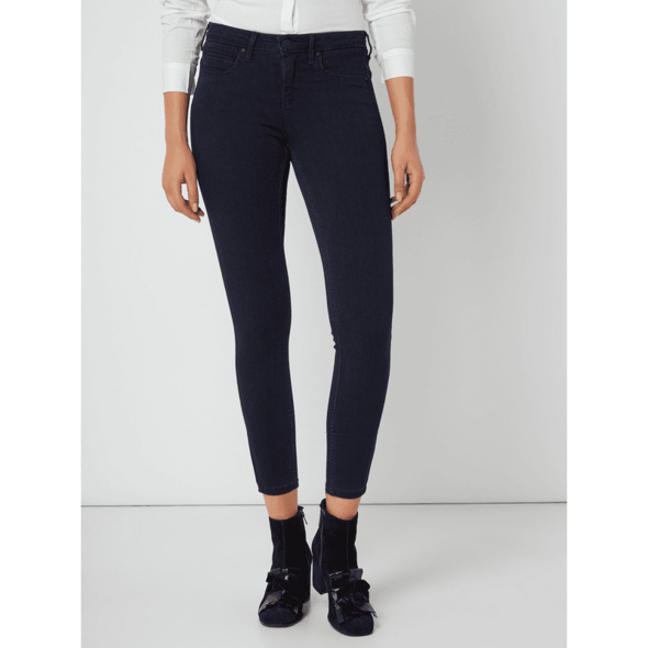 Cropped Skinny Fit Jeans mit Stretch-Anteil Modell 'Kendell'