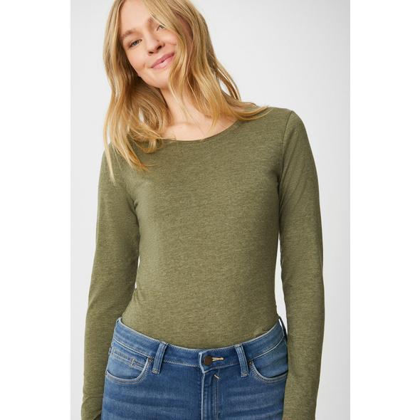 Basic-Langarmshirt - recycelt