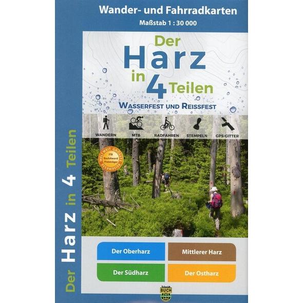 Der Harz in Wander- und Fahrradkartenset 1 : 30 000