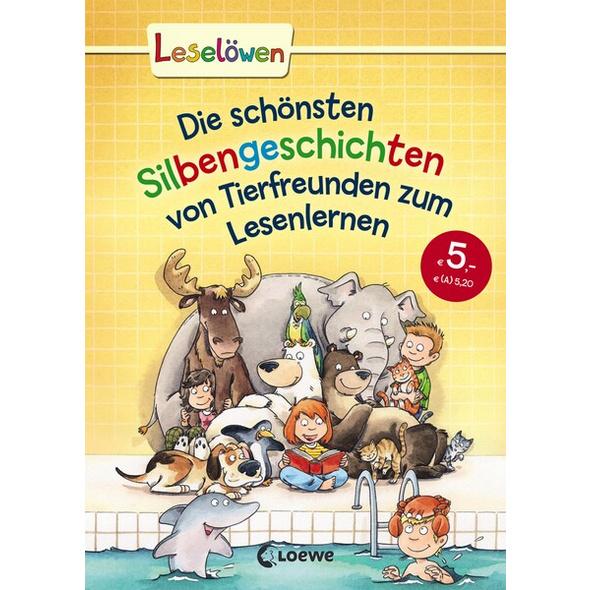 Leselöwen - Das Original - Die schönsten Silbengeschichten von Tierfreunden zum Lesenlernen