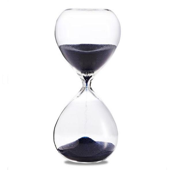 Sanduhr 'Time Out' 30 Minuten, dunkelblau