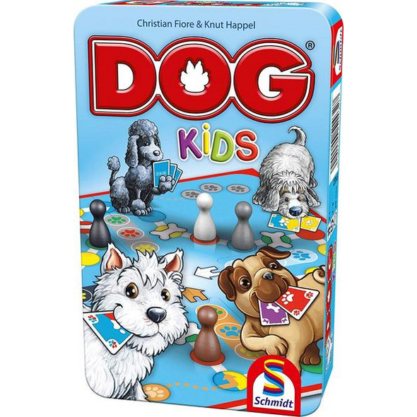 Schmidt 51432 - Dog Kids, Metalldose, Reisespiel
