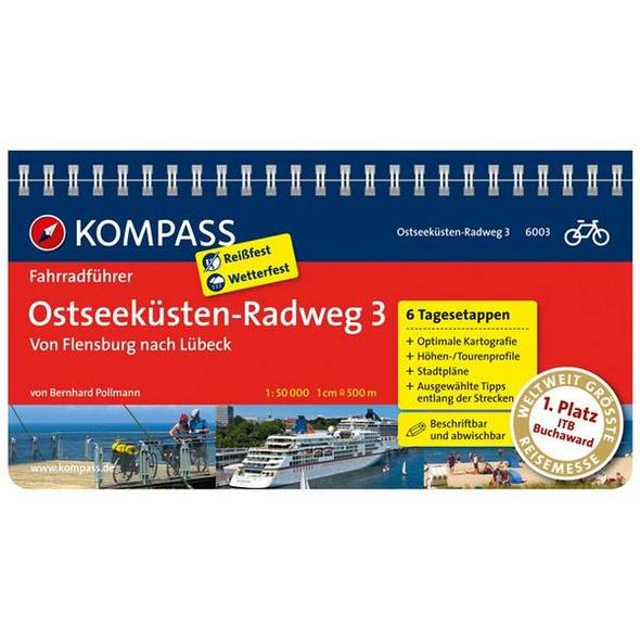 KOMPASS Fahrradführer Ostseeküsten-Radweg 3, Von Flensburg nach Lübeck