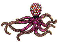 Brosche - Shiny Octopus