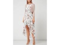 Vokuhila Abendkleid mit floralem Muster