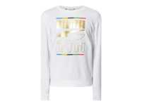 Sweatshirt mit Logo-Print in Metallic-Optik