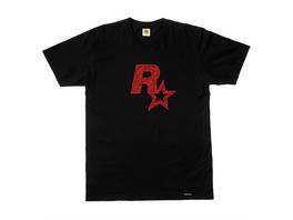 Rockstar - T-Shirt Logo schwarz (Größe L)