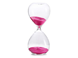 Sanduhr 'Time Out' 5 Minuten , pink